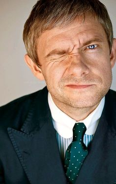 Martin Freeman ... I <3 him heaps and bunches.  (*Huh.  Stubble def works but still on the fence abt the mustache.  kmh*)
