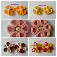Quilled studs by Brilliancy