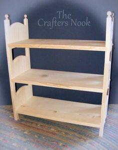 Stackable Triple Doll Bunk Bed - American Girl Doll Furniture