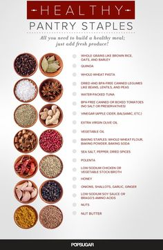 Basic Healthy Pantry Items | POPSUGAR Fitness