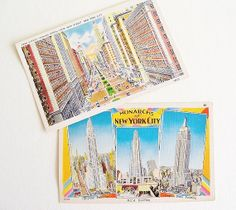 New York City Postcards World War II Era by SunshineSurprises