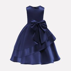 In Stock:Ship in 48 Hours Navy Blue Satin Flower Girl Dress With BowFloral Dress Evening Party Dress Sleeve Length(cm): Sleeveless Model Number: N/A Silhouette: Ball Gown Material: Polyester,Cotton Style: European and American Style Dresses Length: M Girls Formal Dresses, Little Girl Dresses, Fall Dresses, Blue Dresses, Girls Party Dress, Flower Girl Dresses Burgundy, Dressy Dresses, Elegant Dresses, Princess Ball Gowns