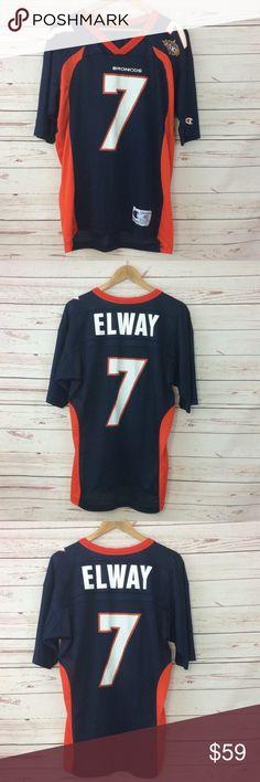 939051949 Vintage Champion Elway Broncos XXXll NFL Jersey John Elway Denver Broncos  vintage champion jersey super bowl