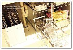 洗面所シンク下の収納とコツ |メグメグの好奇心♪♪ 収納インテリア