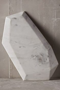 faceted marble cheese board...LOVE