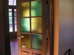 vidrios catedrales puerta rstica