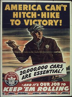 World War 2 Poster describing the manufacturing situation in the us.
