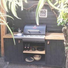 backyard design – Gardening Tips Outdoor Kitchen Plans, Outdoor Kitchen Design, Parrilla Exterior, Outdoor Barbeque, Built In Bbq, Grill Design, Outdoor Living, Outdoor Decor, Backyard Patio