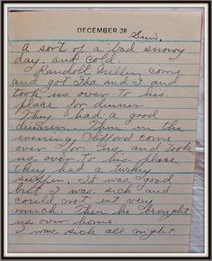 Vintage Johnstown: December 28, 1947: Diary of a Johnstown Housewife