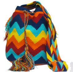 www.mochilaswayuubags.com whatsapp +57 320 345 9226  #wayuu #crochet #handmade #crochet #boho #bohostyle #bohochic #hippie #cartagena Tribal Bags, Plaid Scarf, Boho Fashion, Boho Chic, Knitting, Handmade, Knit Bag, Cartagena, Backpack