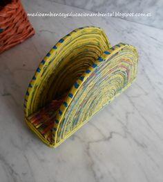 Medio Ambiente y Educación Ambiental: Taller de reciclaje X: servilletero de papel