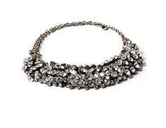 Silver Clear Crystal Diamante Silver Necklace. Only at www.pandadeals.co.uk