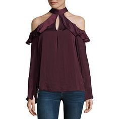 7231b9a6a5e Belle + Sky Long Sleeve Ruffle Cold Shoulder Top JCPenney. Trendy CollectionCold  ...