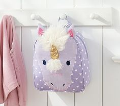 Pottery Barn Kids' backpacks for kids feature durable fabrics and innovative details. Find backpacks for toddler perfect for school and play. Pottery Barn Kids, Kids Mode, Party Mottos, Kawaii, Cute Backpacks, Kids Bags, Cute Bags, My Little Girl, Unicorn Party