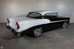 """1956 Chevrolet Belair """"Tuxedo"""" Built by Kindig-it Design."""