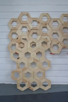 incredible diy hexagon honeycomb faux headboard... this one takes patience and a little math...