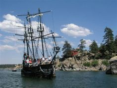 The Time Bandit, a replica of a pirate ship (one third the size of a real ship)…