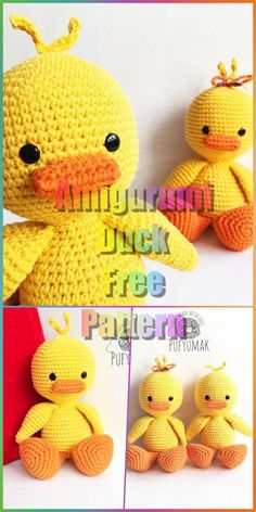In this article we will share a beautiful amigurumi duck free pattern. You can find everything you want about Amigurumi. Knit Or Crochet, Crochet Toys, Crochet Baby, Free Crochet, Crochet Rabbit Free Pattern, Crochet Motifs, Easter Crochet Patterns, Crochet Patterns Amigurumi, Knitting Patterns
