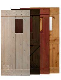 Rustic Alder Window Barn Door