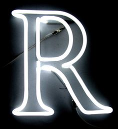 The letter R | neon | Robin : identity : 28 | photo | color | ram2013