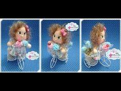 Mini bonequinha na Bicicletinha - Enfeite (Ateliê Brilho de Menina) - YouTube