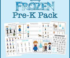 Frozen Pre-K Pack - 30 pages of Frozen learning and fun for Pre-K aged kids! They'll love this!