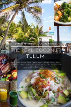 The Real Coconut Tulum at Sanará Resort Luxury Restaurants of the World Luxury Restaurant, Beautiful Sites, Beautiful Places, Travel Drawing, Tulum Mexico, Best Places To Eat, White Sand Beach, Travel Photos, Travel Articles