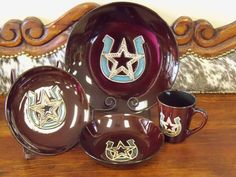 Ranch style Horseshoe and star dishware