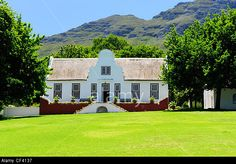Cape Dutch, African House, Garden Walls, Thatched Roof, Sash Windows, South Africa, Westerns, Architecture Design, Buildings
