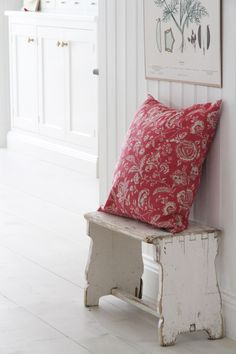 Cabbages & Roses | Atelje Matilde | Kuddfodral French Toile Raspberry | Matilde & Co | Handla online