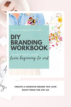 You need this workbook if you're feeling totally overwhelmed by the thought of creating a cohesive brand that your market audience will actually love too. Inside the DIY branding workbook for wedding planners, I'll walk you through the three major components of building a brand that every new wedding planner should explore. | wedding planner marketing, wedding planner branding, wedding planner business, wedding planner career, how to become a wedding planner, wedding planner tips