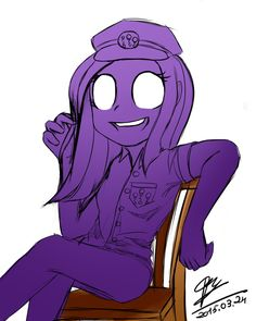 Purple girl by Supermare