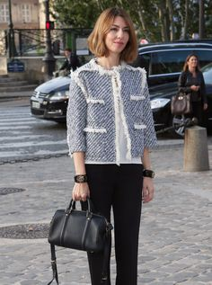 Sofia Coppola showed up to support him carrying the Louis Vuitton SC Satchel that she designed