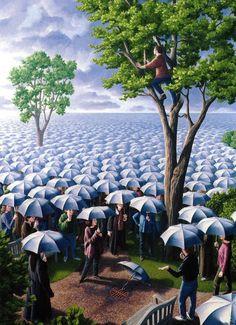 De Canadese kunstenaar Rob Gonsalves is bekend geworden met zijn meesterlijke optische illusies, die een echte…
