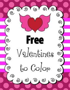 FREE Valentine's to Color for K-2, with graphing activity 3 pages of black and white square Valentines, no folding required 1 page of a Valentine cover to fold with blank inside 1 page of a Valentine envelope to cut and fold 1 page owl theme Valentine's paper cube 1 page of activity graphing corresponding to the paper cube 1 page of two Valentines for color printing