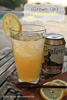 {Grown-Up} Lemonade/ {i love} my disorganized life #lemonade #rum #BrunchWeek