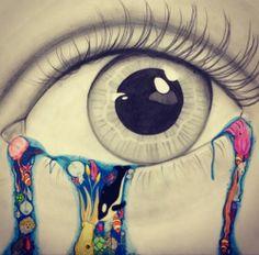 crying sea creatures eye drawing -morgan alessi