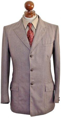 Three button peak lapel jacket