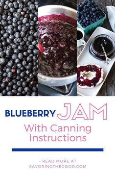 This is the best homemade blueberry jam recipe made with fresh or frozen blueberries. There is also a low sugar recipe option for this small batch blueberry jam that is equally as delicious. Blueberry Preserves Recipes, Blackberry Jam Recipes, Blueberry Jam Recipe For Canning, Blueberry Recipes You Can Freeze, Low Sugar Blueberry Jam Recipe, Blueberry Jelly, Blueberry Syrup, Blueberry Ideas, Blueberry Season