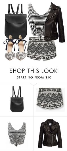 """""""Patterns"""" by seventeene ❤ liked on Polyvore featuring GRETCHEN, MANGO, Anine Bing, J.Crew and patternmixing"""