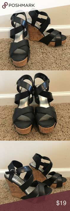 Cathy Jean Wedges Worn a handful of times, cute and pretty comfortable. Good used contrition. Open to offers Cathy Jean Shoes Wedges