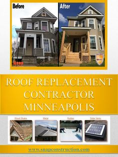 There is no way you can compromise of roofing contractors. Whenever you are hiring Roofing Contractor Minneapolis MN, properly analyze their credentials and search for any disgruntled clients they might have had in the past. If you\'ve heard of any bit that sounds good, don\'t jump right into it because it is most likely that the roofing contractors are uninsured companies. You will also be able to get a good estimate of the costs involved with roofing from your friends along with inf...