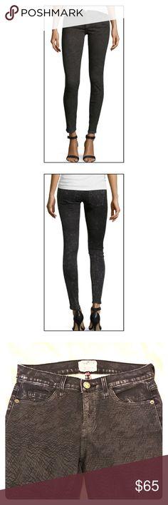 NWOT Current/Elliott Slim Crop Snake Print Jeans NWOT Current/Elliott Slim Crop Snake Print Jeans. Color is Dark Gray/Black (Harlem). Size 27. Never been worn. Great condition. Final sale. Current/Elliott Jeans Skinny