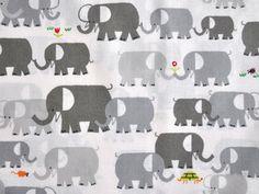 Bio Baumwollstoff - Elephants / Elefanten - Cloud 9 Fabrics