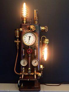 Clock, Retro, Lighting, Antiques, Wall, Home Decor, Watch, Homemade Home Decor, Light Fixtures