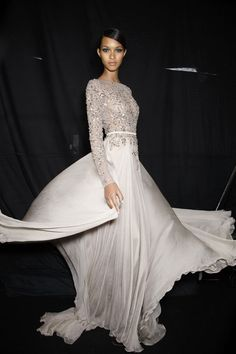 Elie Saab Haute Couture Fall 2013 - Backstage