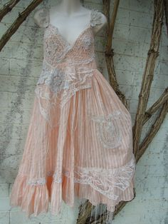 RESERVED  vintage inspired cotton shabby chic by wildskin on Etsy, $85.00