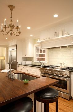 Typical DIY Wood Countertop Mistakes to Avoid For The Weekend Warrior - J. Small Lamp Shades, Modern Lamp Shades, Floor Lamp Shades, Tom Dixon, Kitchen Backsplash, Kitchen Countertops, Kitchen Cabinets, Wood Top Island Kitchen, Walnut Kitchen