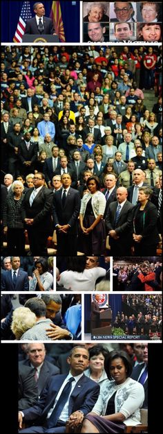 #44thPresident #BarackObama with #FirstLady #MichelleObama in January 2011, at the #memorialservice in #TucsonArizona for the #victims of the Tucson #Shooting