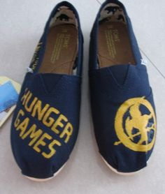 custom toms  hunger game shoes Handpainted by michellehandpainted, $59.99